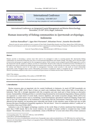 Human insecurity of fishing communities in Spermonde archipelago, Indonesia