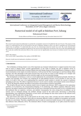 Numerical model of oil spill at Balohan Port, Sabang