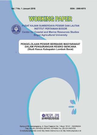 Pengelolaan Pesisir Berbasis Masyarakat dalam Pengurangan Resiko Bencana (Studi Kasus Kabupaten Lomb