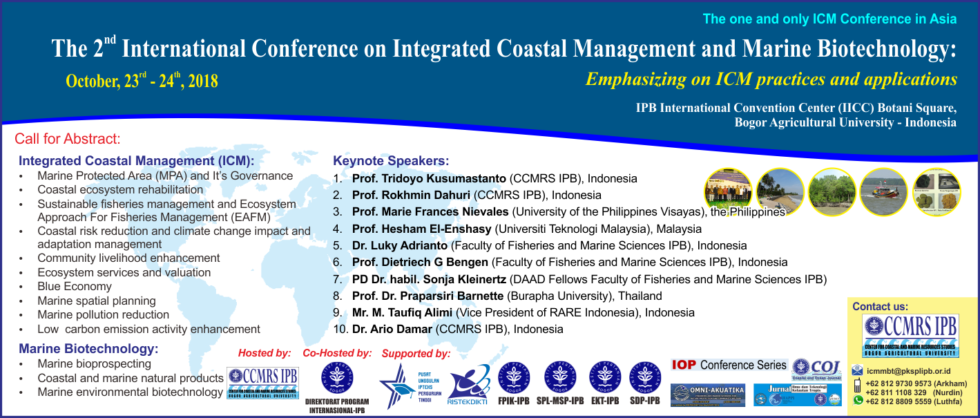 The 2nd International Conference on Integrated Coastal Management and Marine Biotechnology