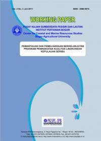 Pemantauan dan Pemeliharaan Berkelanjutan Program Peningkatan Kualitas Lingkungan Kepulauan Seribu