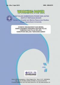 Kondisi Oseanografi dan Model Hidro-Dinamika Perairan Sekitar Pulau Yamdena dan Pulau Selaru,  Kabup