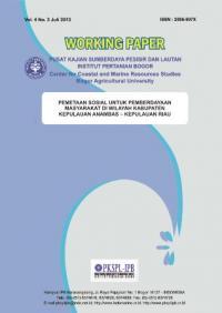 Pemetaan Sosial Untuk Pemberdayaan Masyarakat di Wilayah Kabupaten Kepulauan Anambas Kepulauan Riau