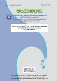 Studi Indeks Kepekaan Lingkungan di Wilayah Kabupaten Kepulauan Anambas Kepulauan Riau