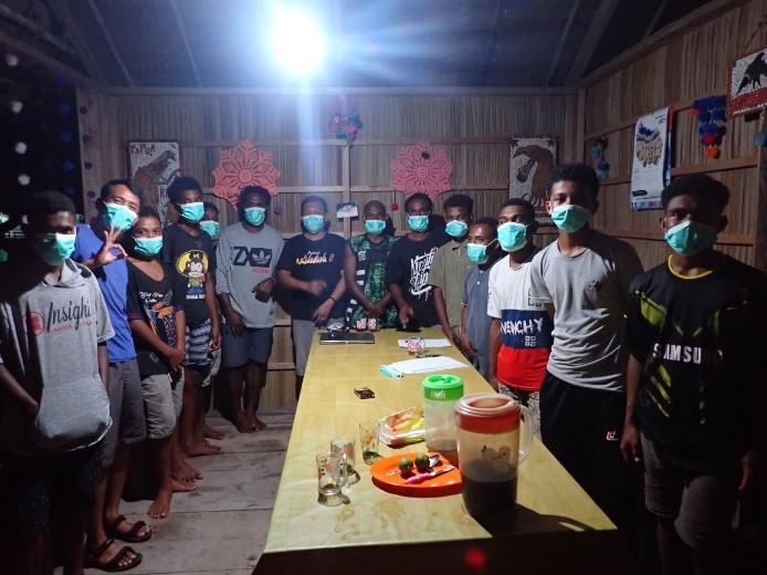 PKSPL LPPM IPB University Bentuk Kelompok Konservasi Ekosistem Pesisir di Kampung Yensawai Barat, Pa