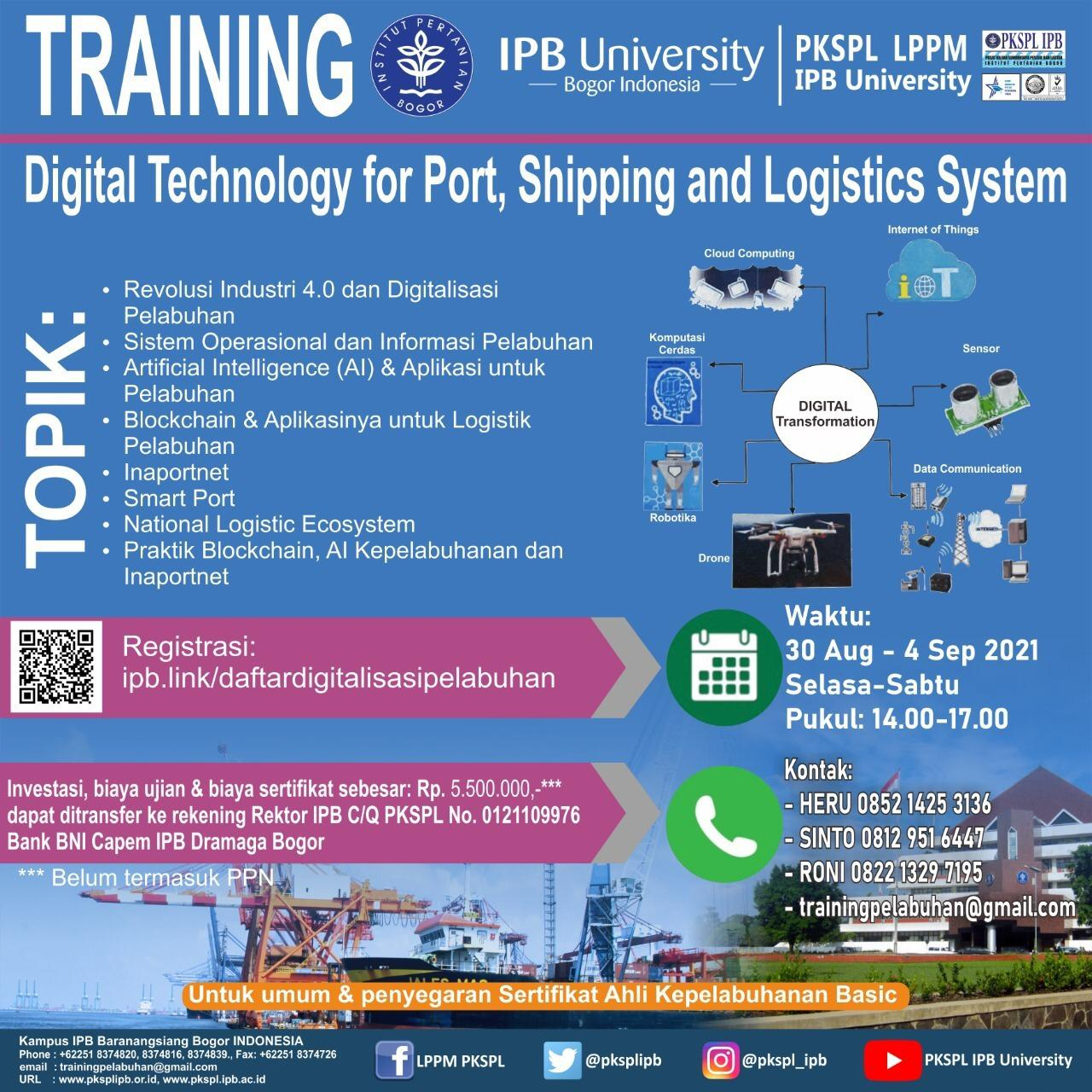 Training Digital Technology for Port, Shipping and Logistics System